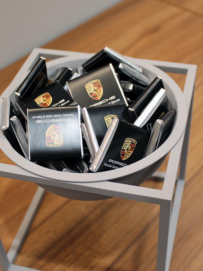 Profilert Porsche sjokolade