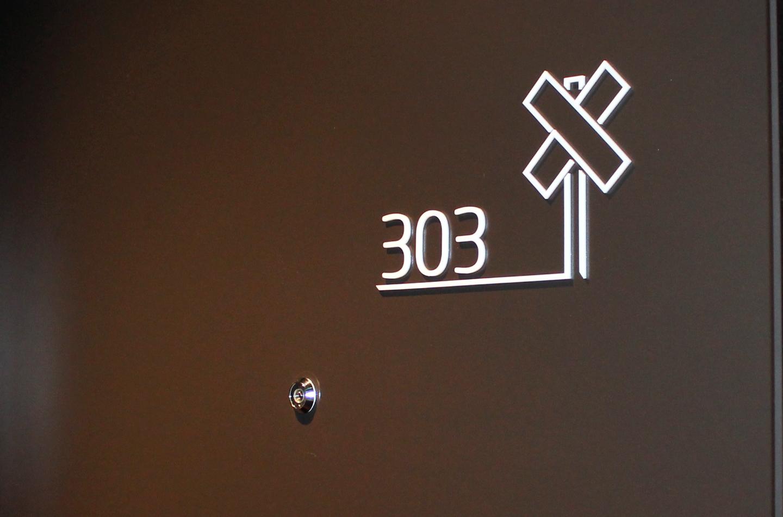 Taktil romnummerering i 3mm akryl