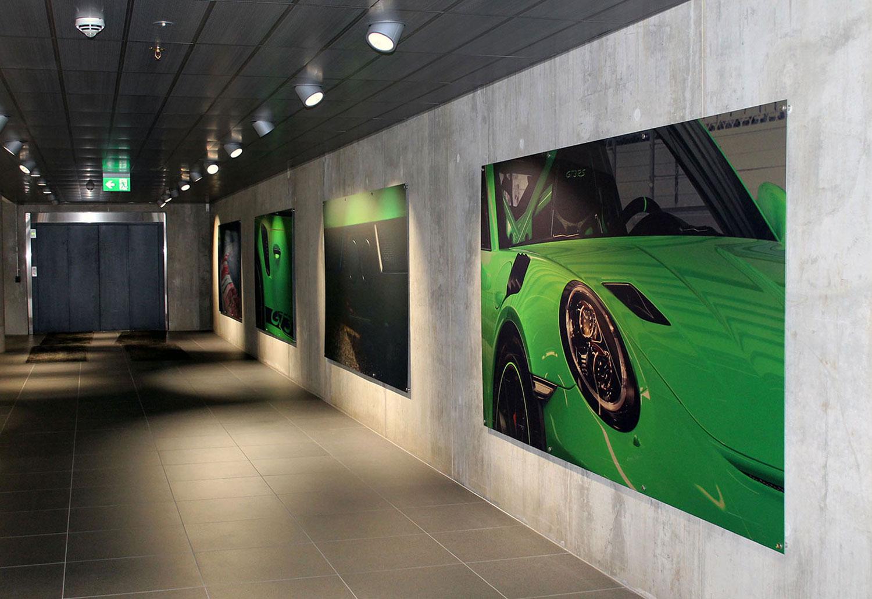 Bilder av grønn bil